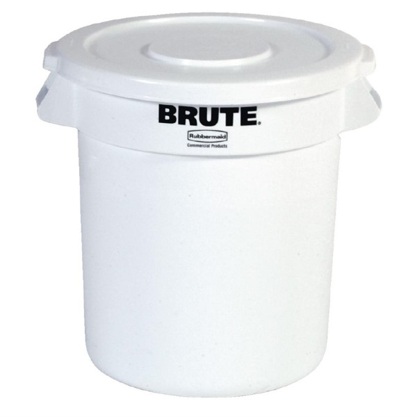 Rubbermaid Brute ronde container wit 37,9L