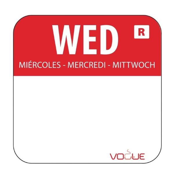 Vogue voedseletiketten woensdag kleurcode rood