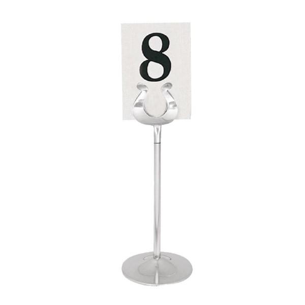 Olympia RVS tafelnummerhouder 20,5cm