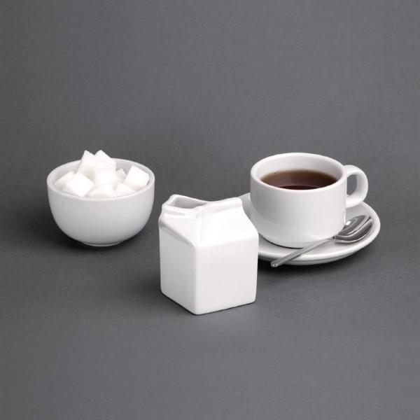 Olympia Whiteware porseleinen melkkan melkpak 15cl (6 stuks)