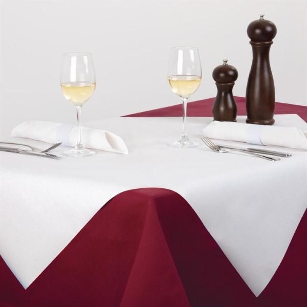 Tork papieren tafelkleed wit 90x90cm