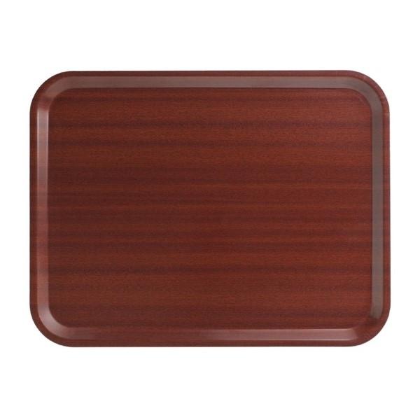 Cambro Capri gelamineerd dienblad mahonie 32,5×26,5cm