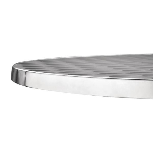 Bolero ronde tafel met kantelbaar RVS blad 60cm