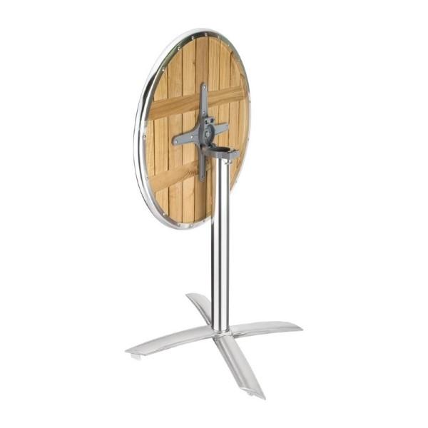 Bolero ronde tafel met kantelbaar essenhouten blad 60cm