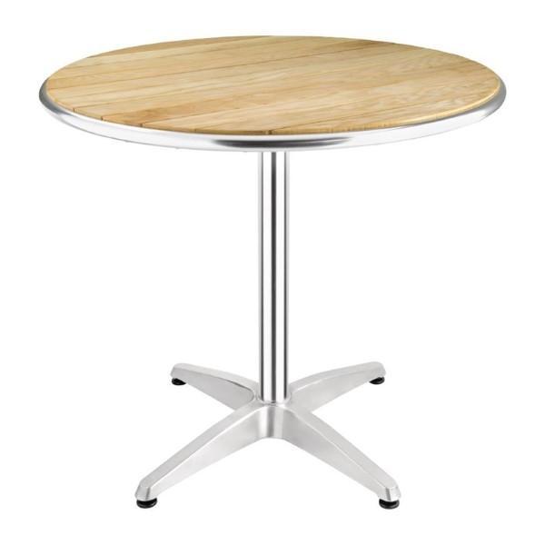 Bolero ronde tafel met essenhouten blad 80cm