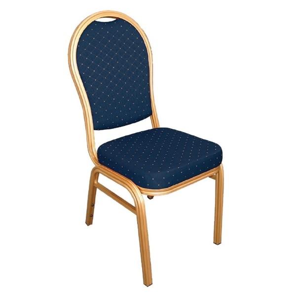 Bolero banketstoel met ovale rug blauw (4 stuks)