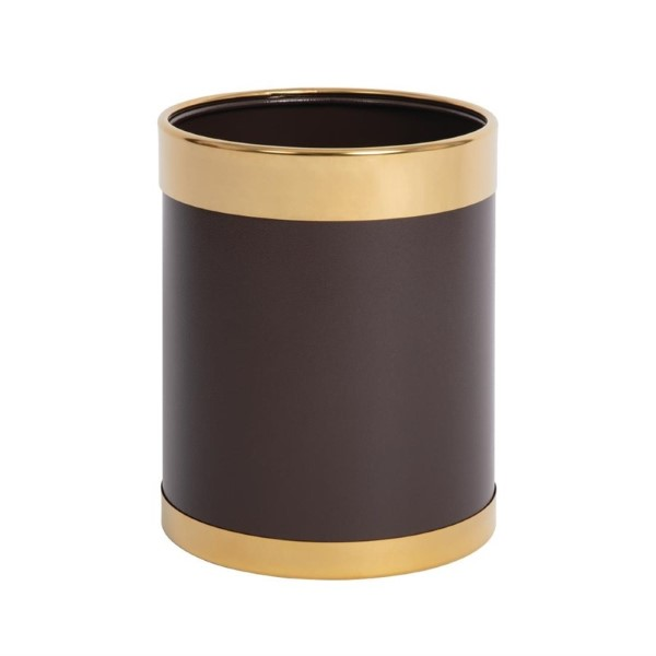 Bolero prullenbak bruin met gouden rand 10,2L