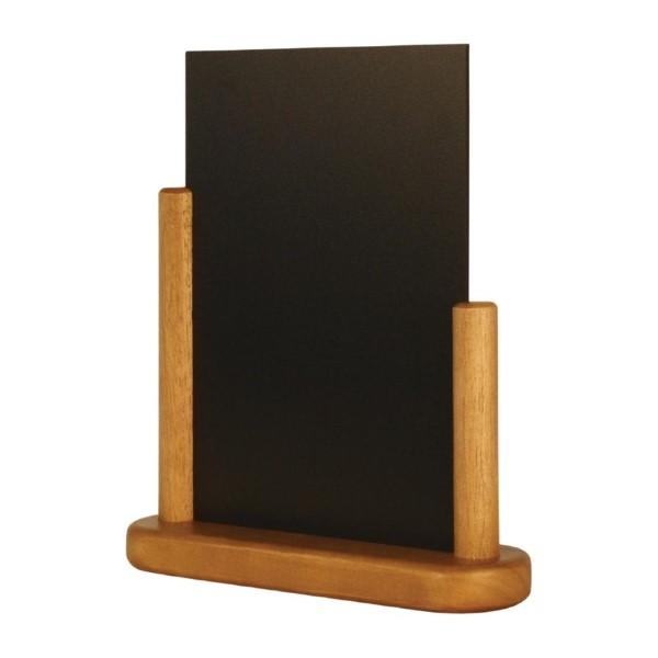 Securit tafelkrijtbordje teak 28x20cm