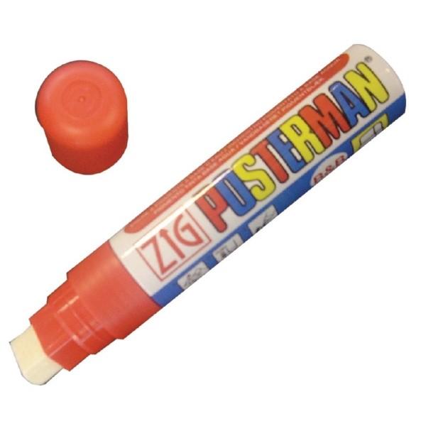 Securit Zig Posterman weerbestendige krijtstift rood 6mm