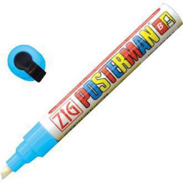 Securit Zig Posterman weerbestendige krijtstift lichtblauw 6mm