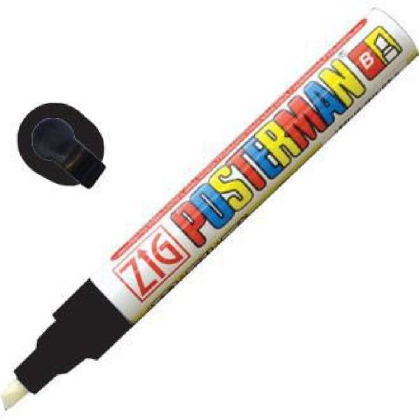 Securit Zig Posterman weerbestendige krijtstift zwart 6mm